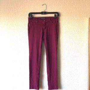Burgundy ponte jegging pants
